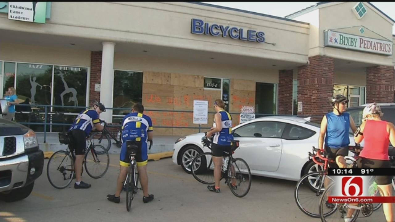 Bixby Bicycle Community Shows Support For Damaged Shop