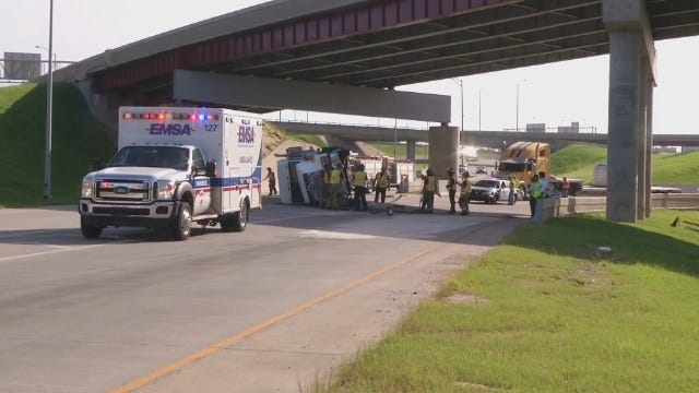 WEB EXTRA: Video From Scene Of Semi Wreck In Downtown Tulsa