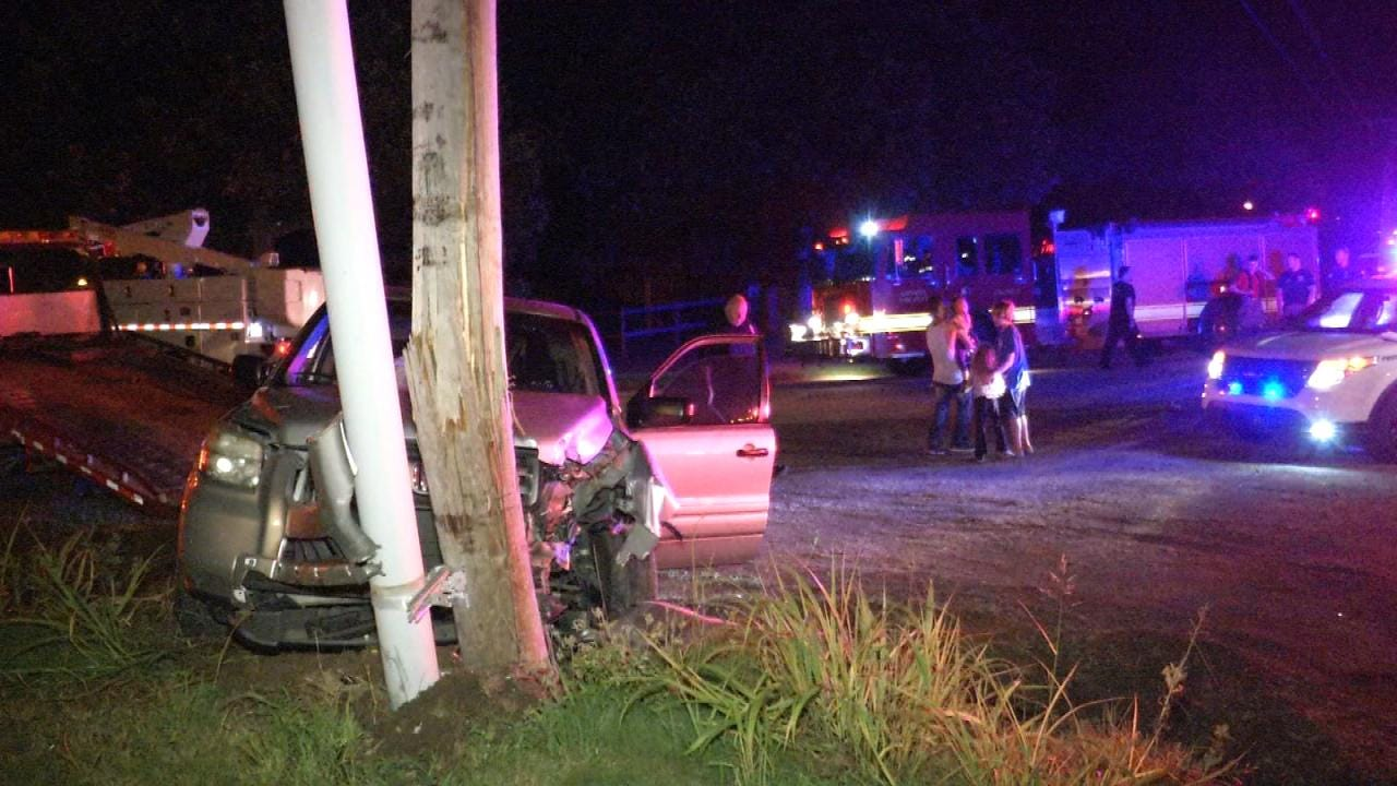 WEB EXTRA: Catoosa Police Say Dad Crashes SUV, Leaves Family