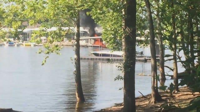 WEB EXTRA: Video Of Injury Boat Fire On Monkey Island