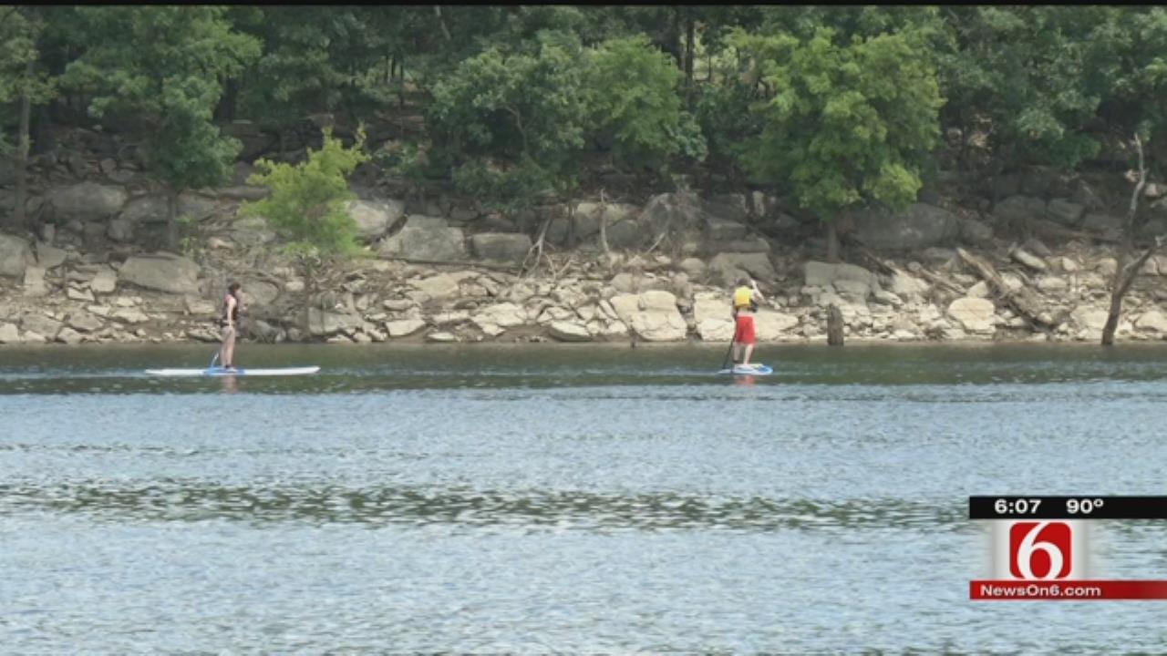 Fourth Of July Visitors Enjoy Red Bud Marina At Oologah Lake