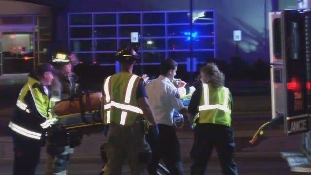 WEB EXTRA: Driver Crashes Into Tulsa Utility Pole
