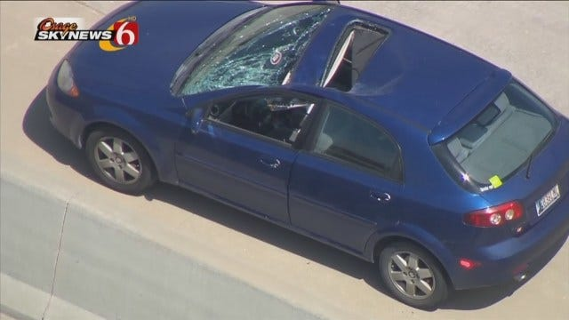 WEB EXTRA: Video From Scene Of Car Damaged By Tire