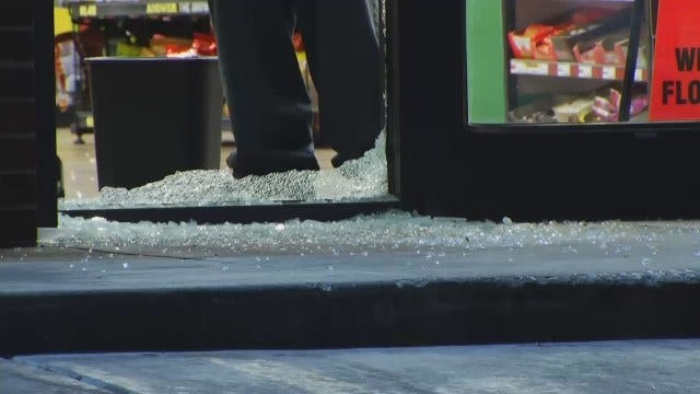 WEB EXTRA: Video From Scene Of Shots Fired Outside Tulsa Convenience Store