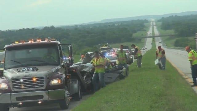 Woman Killed In Turnpike Wreck Near Webbers Falls