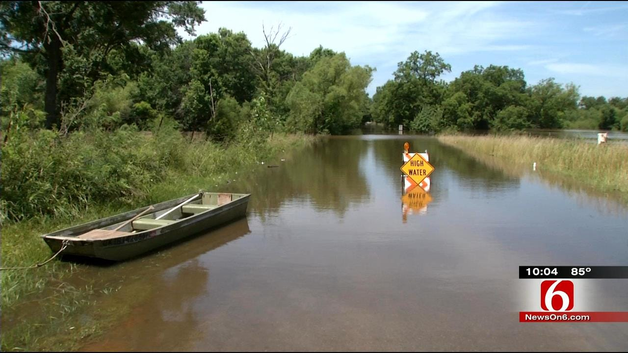 Deep Fork River Tops Out, Causes Hassle For Okmulgee County Rancher