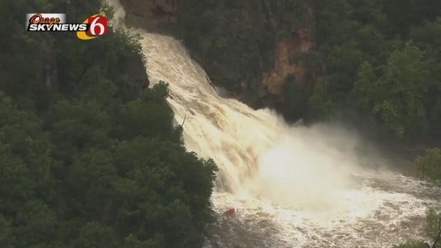 Osage SkyNews 6 HD Flies Over Turner Falls In South Central Oklahoma
