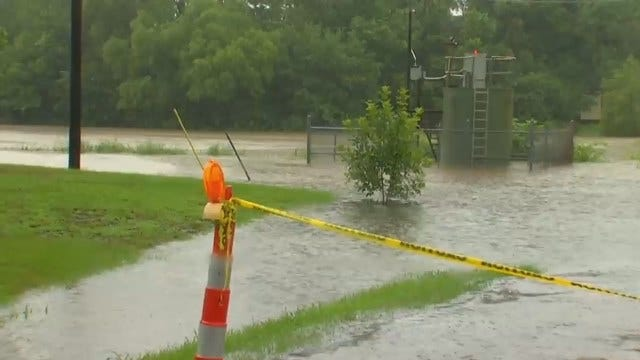 WEB EXTRA: Flooding Along Rock Creek In Sapulpa