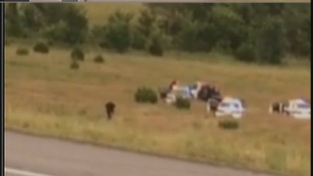 WEB EXTRA: Video Taken At End Of Police Chase Near Nowata