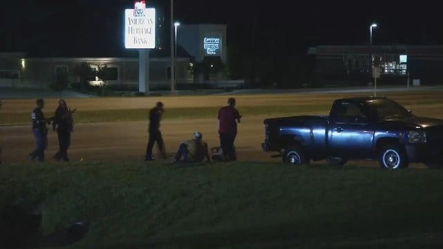 WEB EXTRA: Video From Scene At End Of Police Chase In Sand Springs