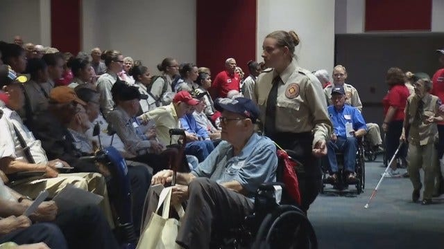 WEB EXTRA: Veterans Given Special Send Off In Bixby Tuesday Evening