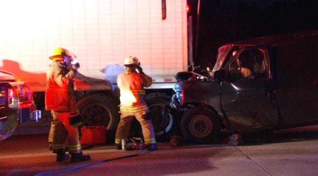 WEB EXTRA: Driver Rear Ends Semi On Highway 412 In Rogers County