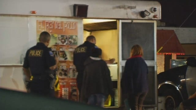 WEB EXTRA: Tulsa Police Investigate Taco Stand Armed Robbery