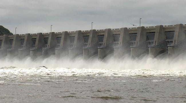 Fort Gibson Dam Roars As Lake Nears Its Capacity