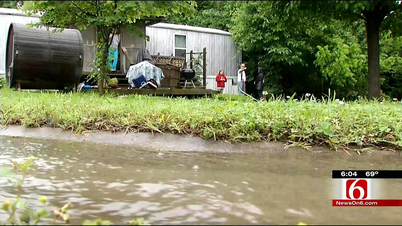 Mobile Homes In Claremore In Flood Danger Zone