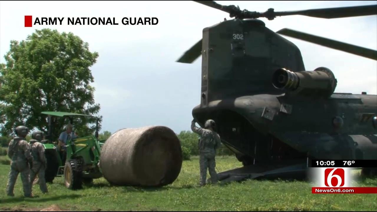 National Guard Sends Helicopter To Help Muskogee County Rancher