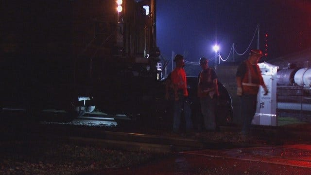 WEB EXTRA: Video From Train, Car Crash In West Tulsa