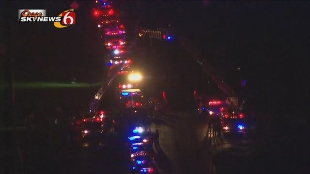 WEB EXTRA: Hundreds Lined Highway 66 Into Claremore To Honor Fallen Firefighter