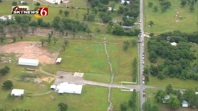 Osage SkyNews 6 HD Flies Over Scene On Creek County Road