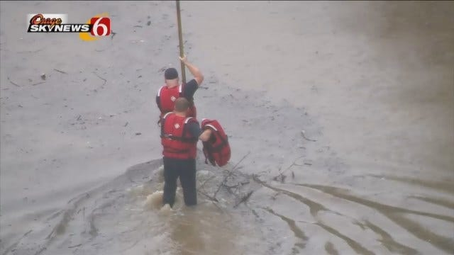 Osage SkyNews 6 HD Flies Over Sapulpa Flood Rescue