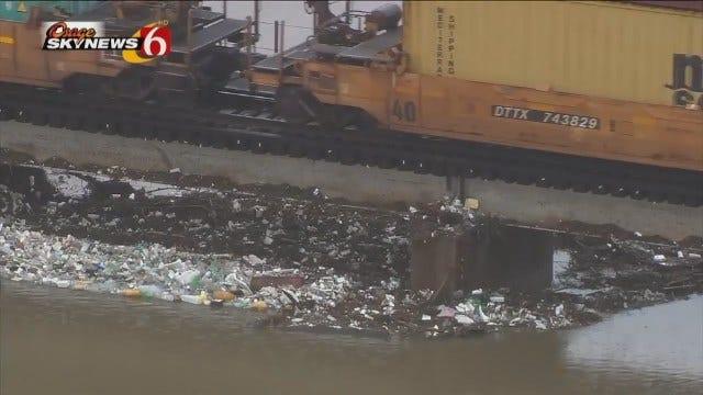 Osage SkyNews 6 HD Flies Over Northeast Tulsa Flooding