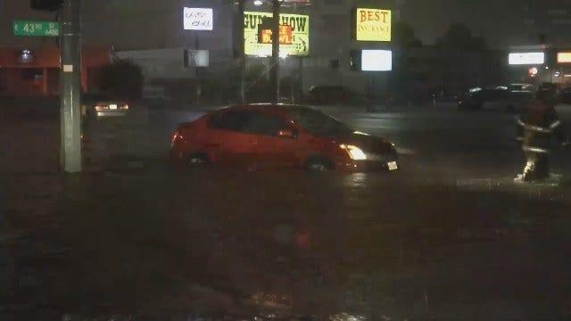 WEB EXTRA: Flooding On South Sheridan In Tulsa