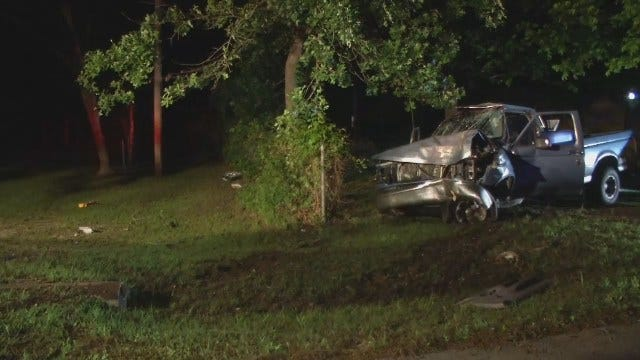 WEB EXTRA: Video From Scene Of West Tulsa Pickup Crash