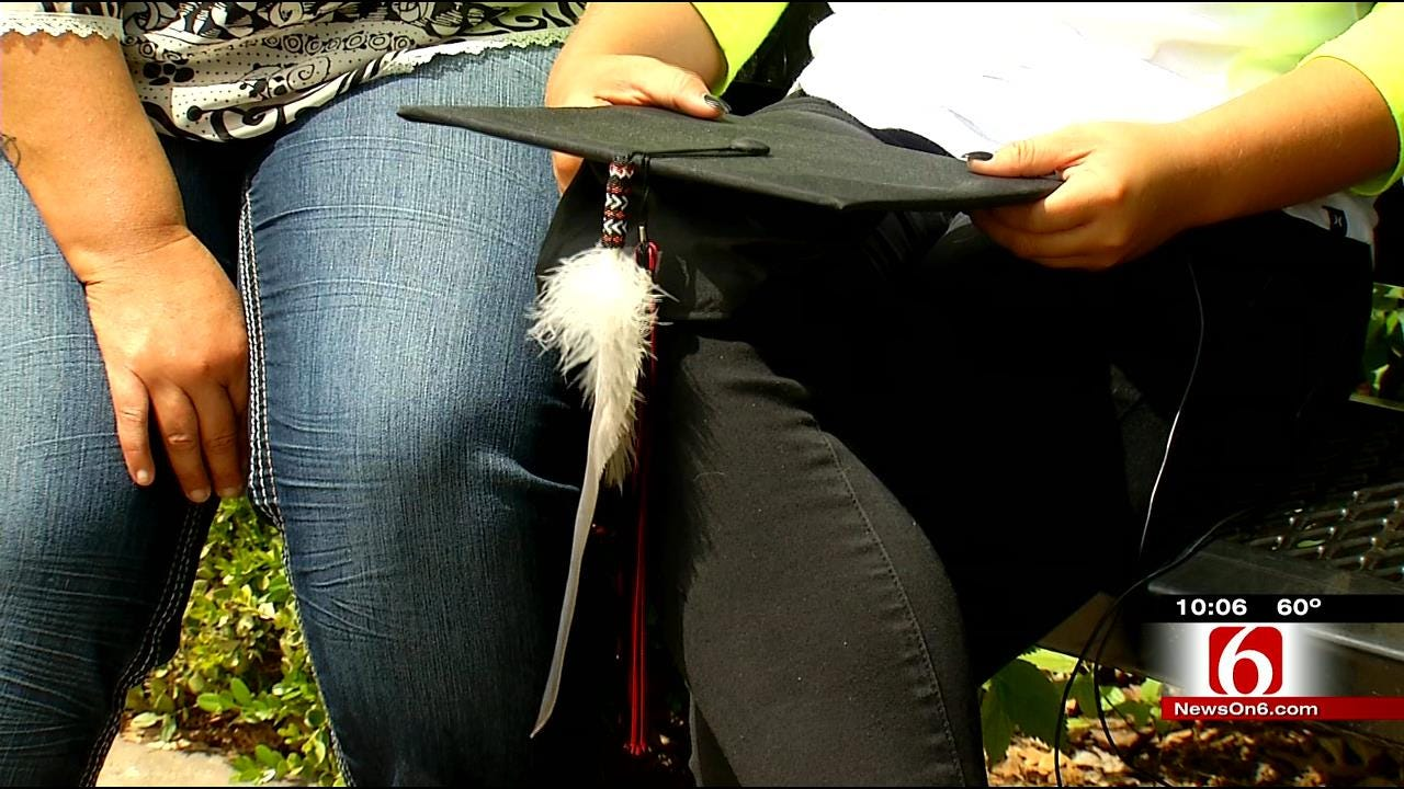 Caney Valley Senior Graduates Without Eagle Feather