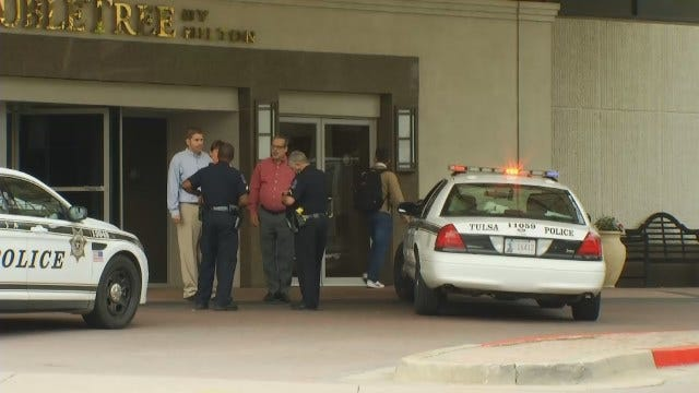 WEB EXTRA: Video From Scene Outside Downtown Tulsa Hotel