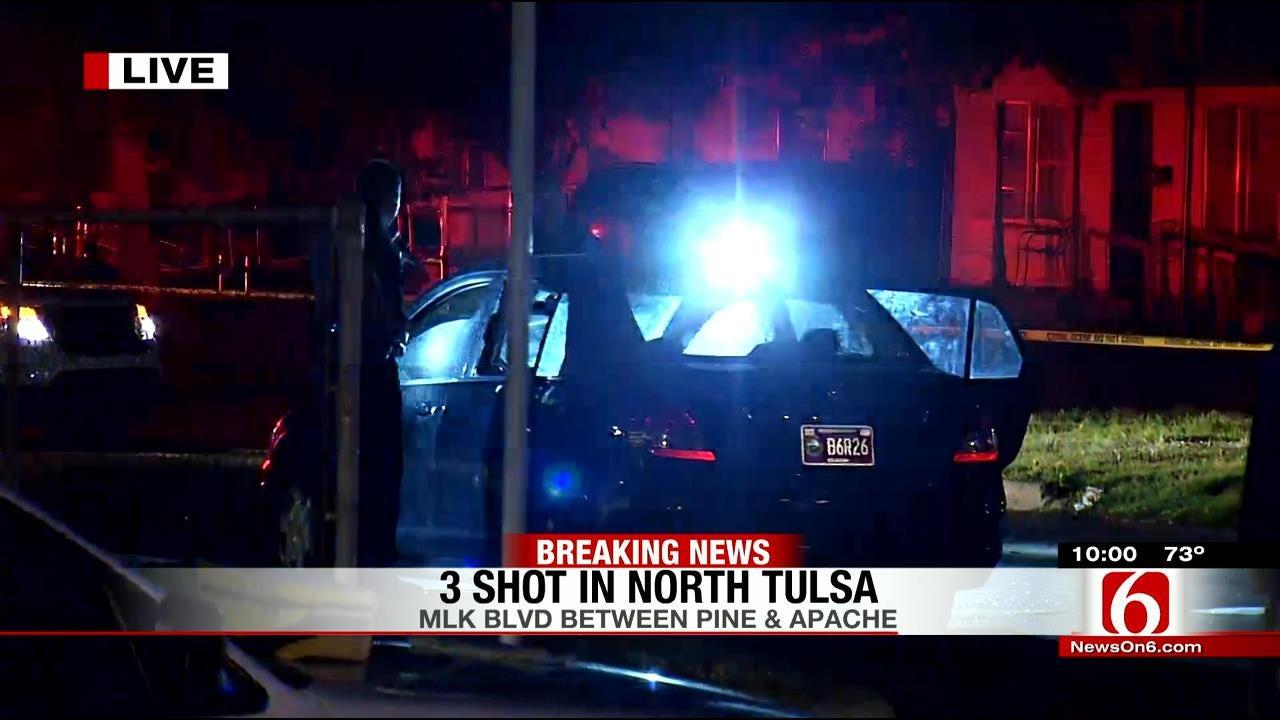 Police Investigating Three Shot In North Tulsa