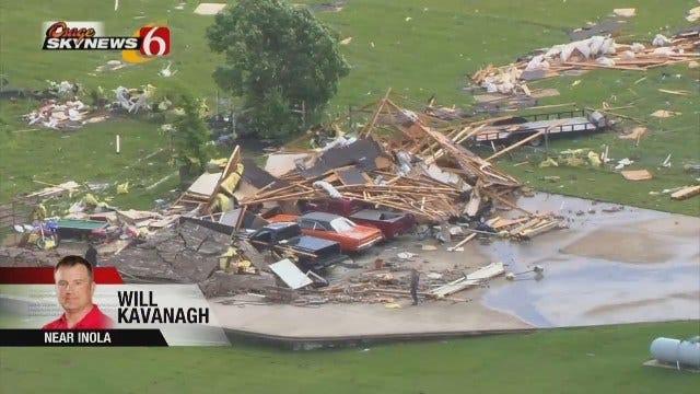 Osage SkyNews 6 HD Flies Over Tornado Damage
