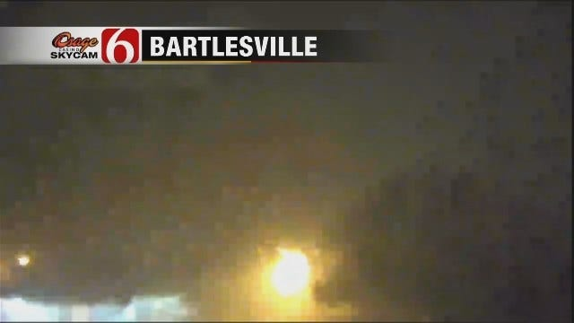 WEB EXTRA: Osage SkyCam View Of Bartlesville Storm