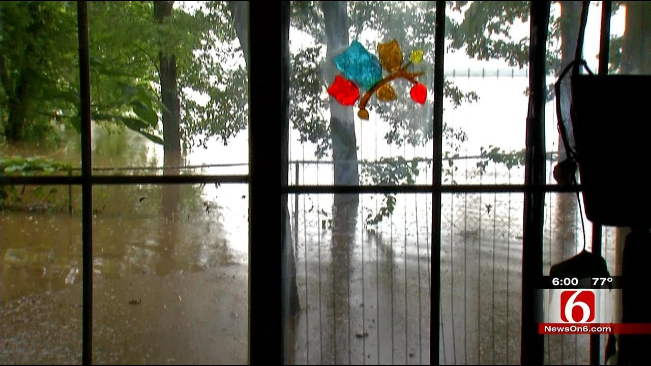 High Waters Turn Lake Eufaula Cabin Into Houseboat