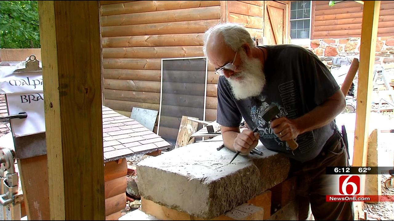 Tulsa Artist's Stone Carvings Featured During Renaissance Festival