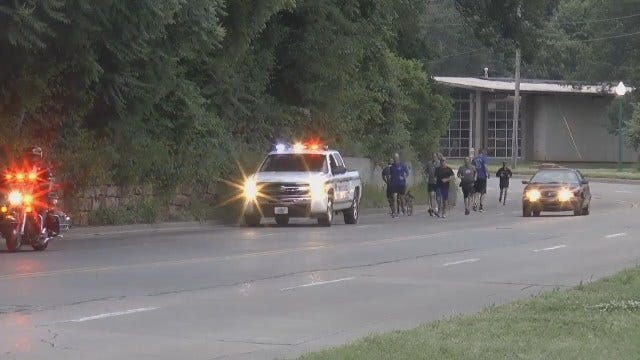 WEB EXTRA: Annual Law Enforcement Special Olympic Torch Run Leaves Tulsa