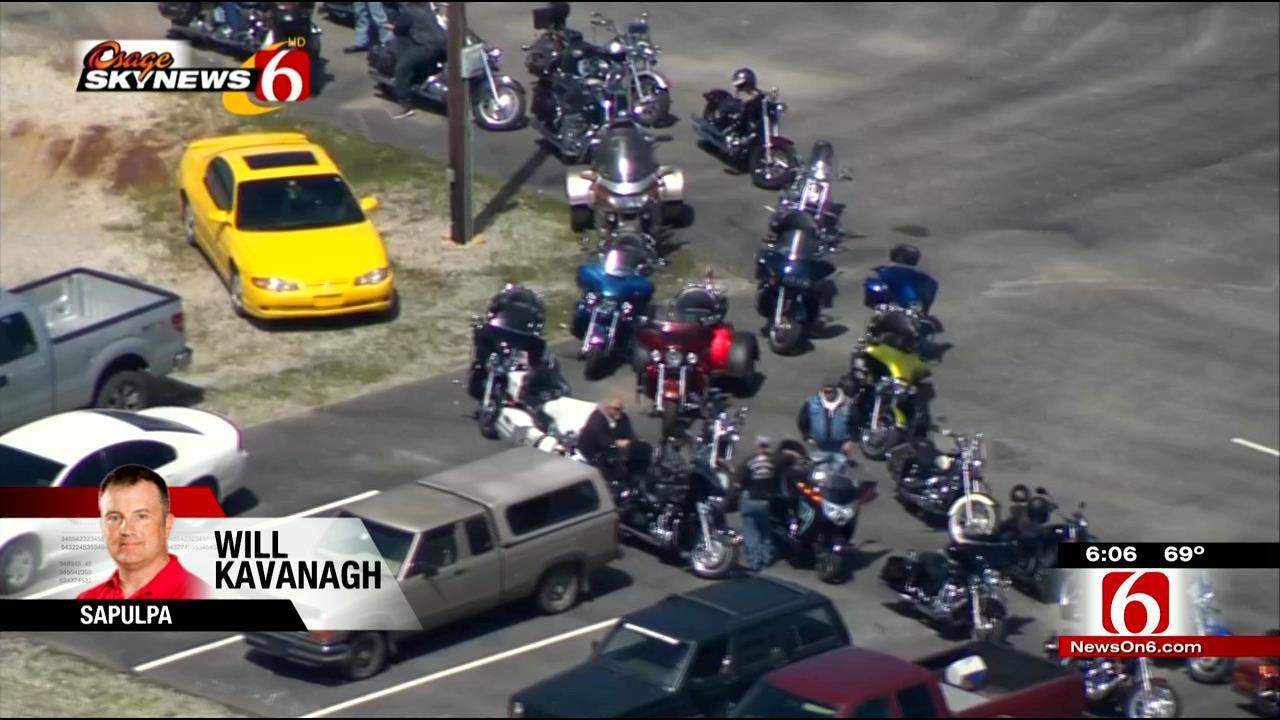 Osage SkyNews 6 HD Flies Over Tribute To Biker Killed In Crash