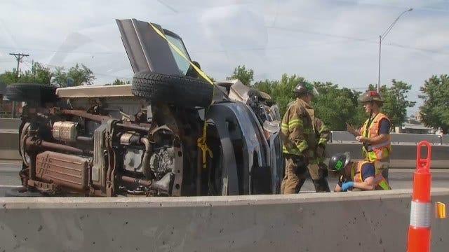 WEB EXTRA: Injury Crash On Tulsa Interstate 244