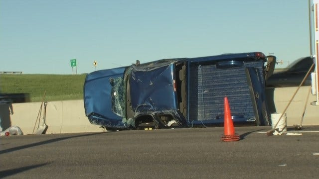 WEB EXTRA: Dropped Cell Phone Causes Chain-Reaction Tulsa Crash