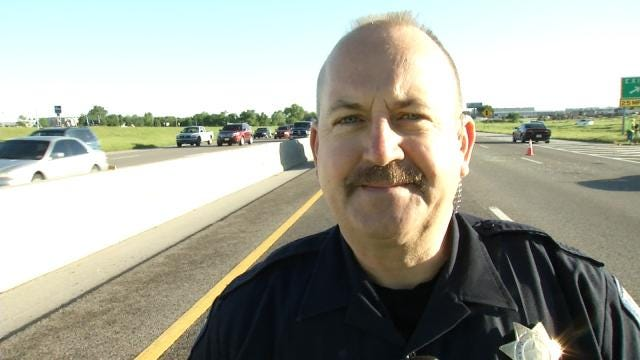 WEB EXTRA: Tulsa Police On Highway 169 Crash