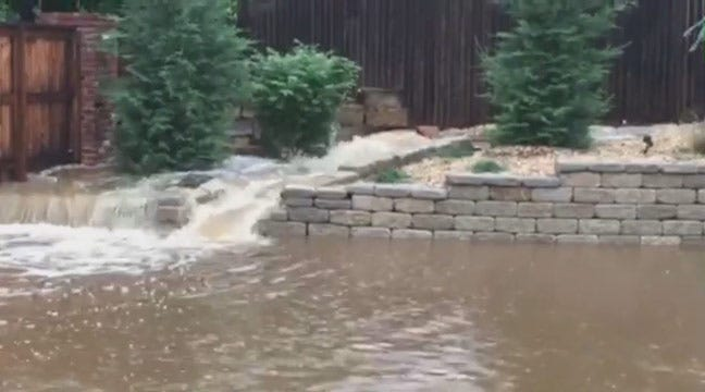 WEB EXTRA: Flooding In Jenks Off 121st Street