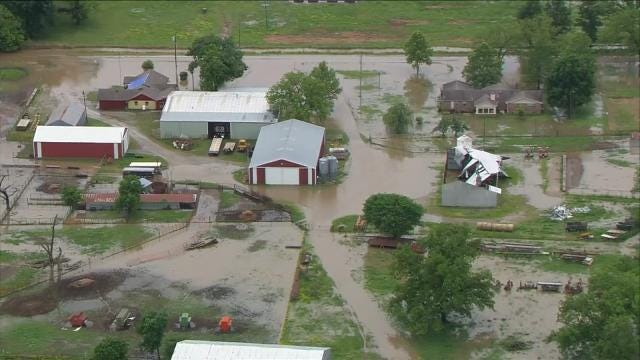 Osage SkyNews 6 HD: Flooding In Okmulgee County