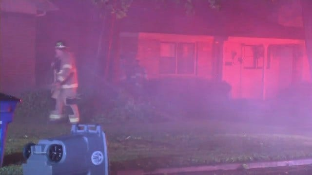 WEB EXTRA: Video From Scene Of A Tulsa House Fire