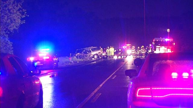 WEB EXTRA: Video From Scene Of Highway 266 Crash In Rogers County