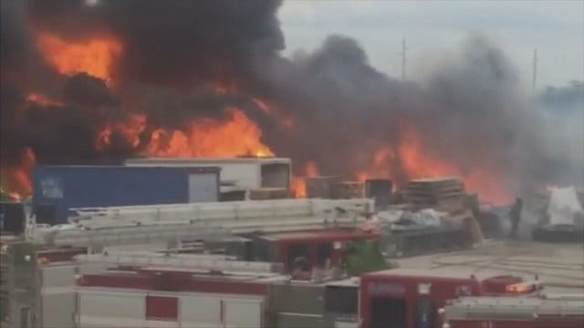 WEB EXTRA: Witness Video Of Midtown Tulsa Business Fire