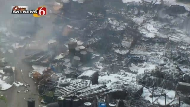 Osage SkyNews 6 HD Flies Over Fire At 11th And Fulton