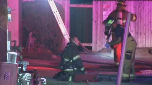 WEB EXTRA: Video From Scene Of East Tulsa Duplex Fire