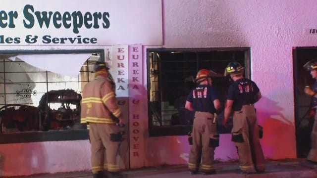 WEB EXTRA: Video Of Firefighters At Tulsa Business Fire On 11th Street