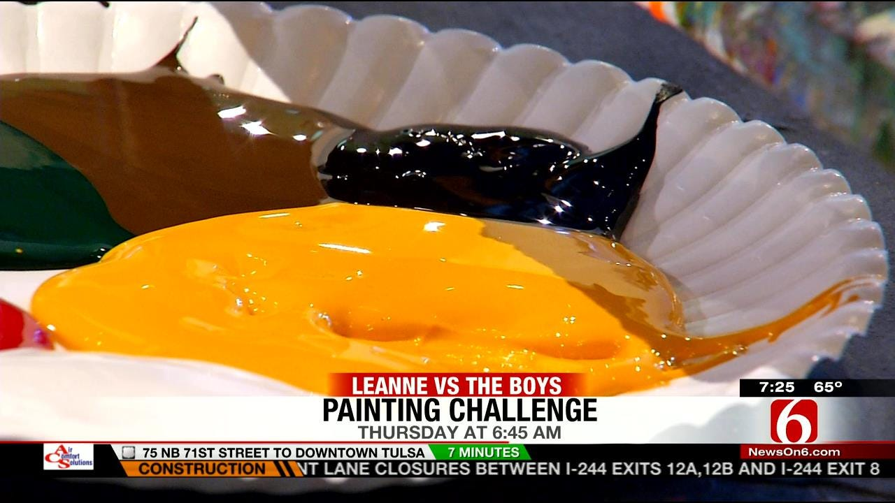 LeAnne Vs. The Boys Painting Challenge