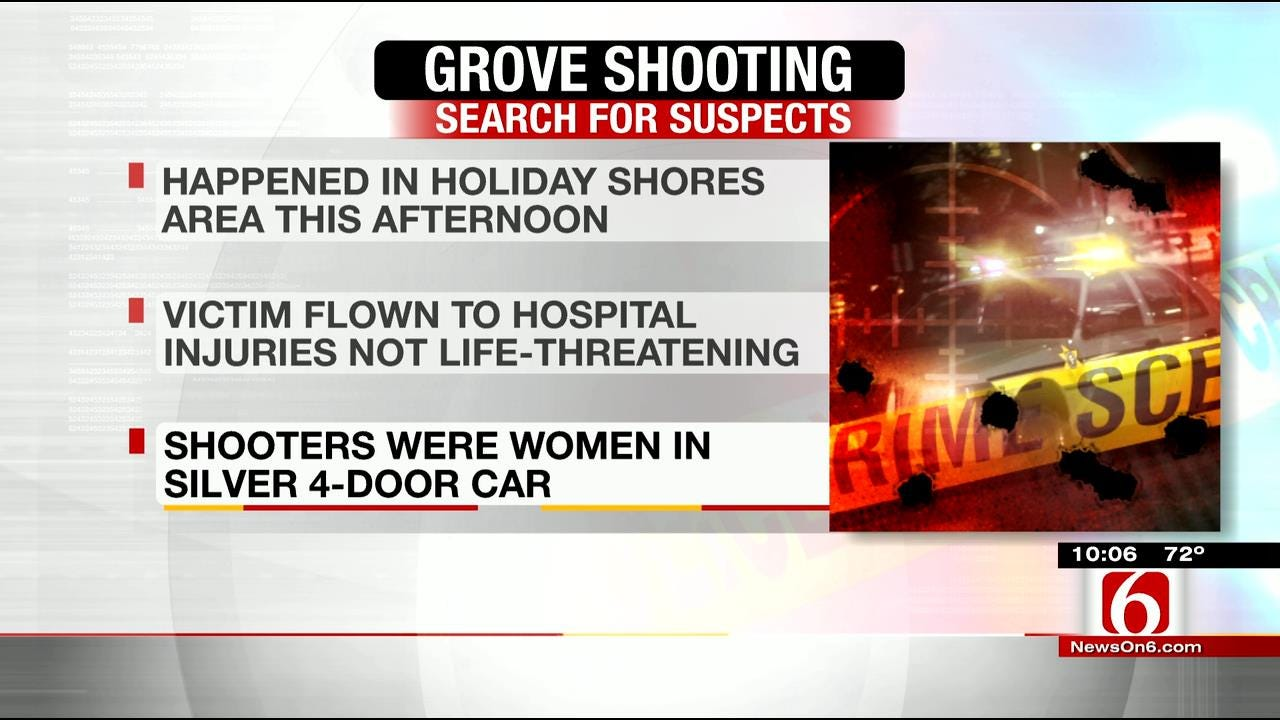 Report: Two Women At Large After Another Woman Is Shot In Grove