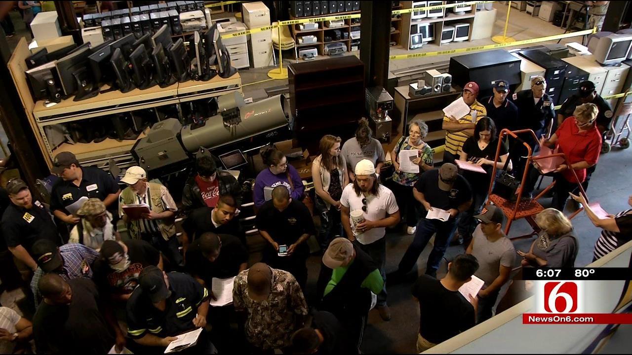 Tulsa City Surplus Auction Attracts Bargain Hunters